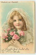 N°13246 - J.C. Schmidt - Postkarte Mit Rosenduft - Fillette Tenant Un Bouquet De Roses - Autres