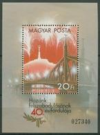 Ungarn 1985 Tag Der Befreiung Block 177 A Postfrisch (C92628) - Hojas Bloque