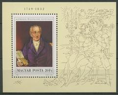 Ungarn 1982 Johann W. V. Goethe Block 161 A Postfrisch (C92603) - Hojas Bloque