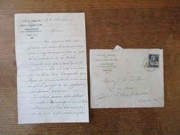 ECOLE D'AGRICULTURE DE GRANGENEUVE PRES FRIBOURG COURRIER ET ENVELOPPE DU 18 OCTOBRE 1926 - Suisse
