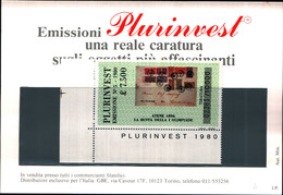 13509)  Emissione-plurinvest-della Bolaffi Valore Affrancatura 7,500lire - 6. 1946-.. República