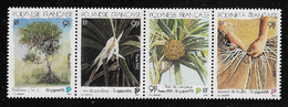 POLINESIA FRANCESE - 1995 - 4 Valori Nuovi S.t.l. Uniti In Striscia - SINGAPORE 95 - In Ottime Condizioni. - Polinesia Francese