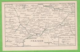 MILITARIA   Théâtre De La Guerre 1914-1918, Ypres, Courtrai, Roulers - Guerre 1914-18