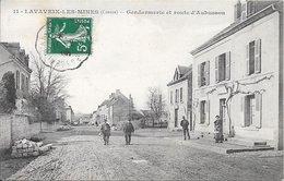 LAVAVEIX-les-MINES : Gendarmerie Et Route D'Aubusson - Francia