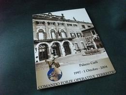 STORIA POSTALE FRANCOBOLLO ITALIA PALAZZO CARLI 2004 COMANDO FORZE OPERATIVE TERRESTRI VERONA - Verona