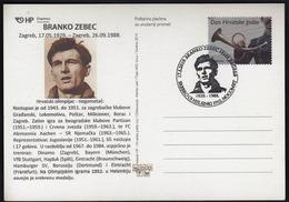 Croatia Zagreb 2019 / Olympic Games Helsinki 1952 / 90 Years Of Birth Branko Zebec / Cro Football Legend / Silver Medal - Summer 1952: Helsinki