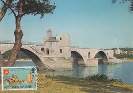 Carte  Maximum  1er  Jour   ILE  DE  MAN    Le  Pont  D' AVIGNON   1974 - Bridges
