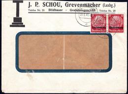 Luxembourg Occupation, Lettre J.P. Schou, Cachet Grevenmacher 20.6.1941 - 1940-1944 Occupation Allemande
