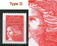 N° 3084** Type II_oreille Cassée_N° Rouge Verso - 1997-04 Marianne Du 14 Juillet