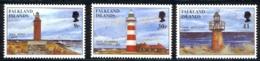 Falkland Islands Sc# 676-678 MNH 1997 Lighthouses - Falkland