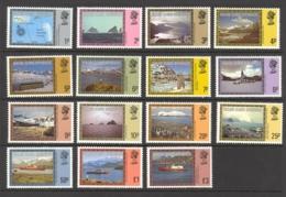 Falkland Islands Dependencies Sc# 1L38-1L52 MNH 1980 Map Of Falkland Islands Dependencies - Falkland Islands