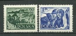 POLAND MNH ** 761-762 ANNIVERSAIRE DE LA BATAILLE DE STUDZIANSKI. COMBATTANTS. CHAR. SOLDATS Armée Guerre - 1944-.... République