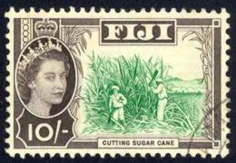 Fiji Sc# 188 Used 1962-1967 10sh QEII Definitives - Fiji (...-1970)