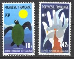 French Polynesia Sc# 289-290 MNH 1976 18fr-42fr Multi Turtle - French Polynesia