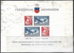 Liechtenstein  1936   Sc#B14 Souv Sheet  MH   2016 Scott Value $17.50 - Liechtenstein