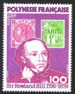 French Polynesia Sc# 322 MNH 1979 100fr Multi Sir Rowland Hill - Französisch-Polynesien