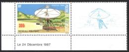 French Polynesia Sc# 485 MNH 1988 300fr POLYSAT Domestic Communications Network - French Polynesia