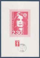 = Sur Cartonette Marianne De Briat Dite Du Bicentenaire 2.30 Auch Le 31.12 1989 - 1989-96 Bicentenial Marianne