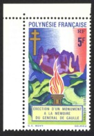 French Polynesia Sc# C69 MH 1971 5fr Memorial Flame - Unused Stamps