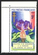 French Polynesia Sc# C69 MH 1971 5fr Memorial Flame - French Polynesia