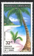 French Polynesia Sc# C152 MNH 1977 32fr Palms On Shore - Neufs