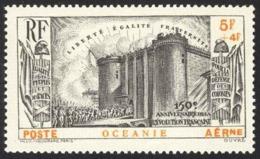 French Polynesia Sc# CB1 MH 1939 5+4fr French Revolution Common Design - Oceania (1892-1958)