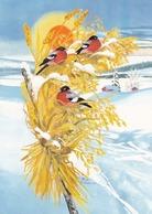 Bird - Birds - Oiseau - Vogel - Uccello - Pássaro - Bullfinches In Winter Landscape - Red Cross 1997 - Double Card - Christmas