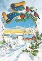 Bird - Birds - Oiseau - Vogel - Uccello - Pássaro - Bullfinches In Winter Landscape - Red Cross 2002 - Double Card - Christmas