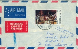 1978 , AUSTRALIA ,  CORREO AÉREO , HOBART , ARTE , PINTURA - OVERSEAS EXPRESS DELIVERY - 1966-79 Elizabeth II