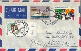 1978 , AUSTRALIA ,  CORREO AÉREO , HOBARTH - COMERCIO , FAUNA , ACTU - 1966-79 Elizabeth II