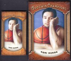 Toni Kukoc / Croatian Basketball Player / 2014 Goodwin Champions Base And Mini Card - Apparel, Souvenirs & Other