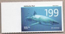 BRD - Privatpost - Märkische Post - Fische -  Weißer Hai (Carcharodon Carcharias) - Fische