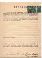 24.11.1919. KINGDOM OF SHS, CHAIN BREAKERS, ZEMUN, 3X50 VINARA, POSTAL STAMPS USED AS REVENUE, ERROR - 1919-1929 Kingdom Of Serbs, Croats And Slovenes