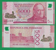 PARAGUAY - 5000 GUARANIES – 2011 - POLYMER - UNC - Paraguay