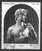 ITALIA  2014 MICHELANGELO SASS. 3467 USATO VF - 2011-...: Usati