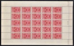 MONACO 1938 / 1941 / FEUILLE DE 25 TP / Y.T. N° 175 - NEUFS ** - Neufs