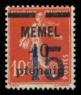 MEMEL 1921 Nr 34 Postfrisch X7D83D6 - Memelgebiet
