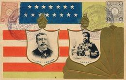 JAPAN 1908 COMMEMORATION VISIT OF AMERICAN FLEET Cpa Postcard Embossed - Japan