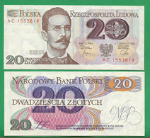 POLAND - 20 ZLOTYCH - 1982 - UNC - Poland