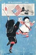 "JAPAN 1908 WELCOME AMERICAN VISIT, U.S.S. ""Connecticut"" Pc Cpa Embossed - Japan"
