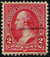 US #266 SUPERB Used 2c Washington Of 1895 - Used Stamps