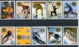 Paraguay, 1981, Olympic Winter Games Lake Placid, MNH, Michel 3347-3356 - Paraguay