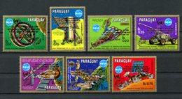 Paraguay, 1989, Space, Nasa, United Nations, MNH Gold Overprint, Michel 4388-4394 - Paraguay
