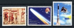 Paraguay, 1986, Halley's Comet, Space, MNH, Michel 3973-3975 - Paraguay