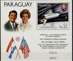 Paraguay, 1981, Space Shuttle, Reagan, Washington, MNH, Michel Block 365 - Paraguay