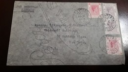 O) 1940 HONG KONG, EXTRA - PAN AMERICAN AIRWAYS, KING GEORGE VI SC 163 $1 - SC 159 15c, TO USA - 1941-45 Japanese Occupation