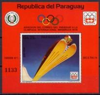 Paraguay, 1975, Olympic Winter Games Innsbruck, MNH, Michel Block 253 - Paraguay