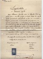 12.12.1919. KINGDOM OF SHS, CHAIN BREAKERS, VERIGARI, ZAGREB, 1 X 2 KRUNA, POSTAL STAMPS USED AS REVENUE, ERROR - 1919-1929 Kingdom Of Serbs, Croats And Slovenes