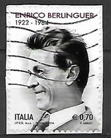 ITALIA  2014 ENRICO BERLINGUER SASS. 3488 USATO VF - 2011-...: Usati