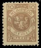 MEMEL 1923 Nr 141 Postfrisch X88788A - Memelgebiet